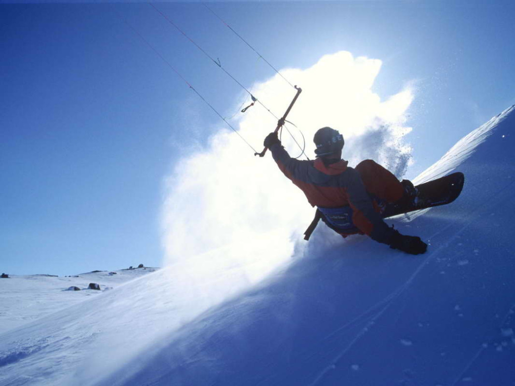 Snowkiting is an easy-to-learn way to spend a winter day.