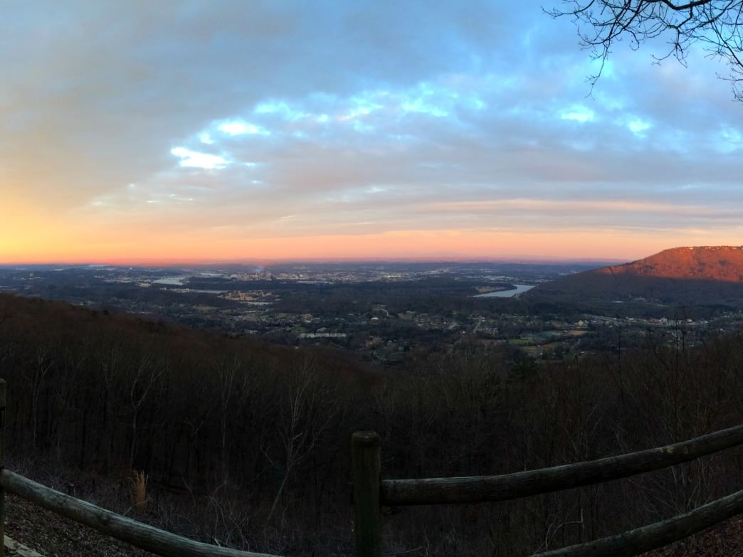 Raccoon Mountain's East Overlook offers up one of the best views of downtown there is