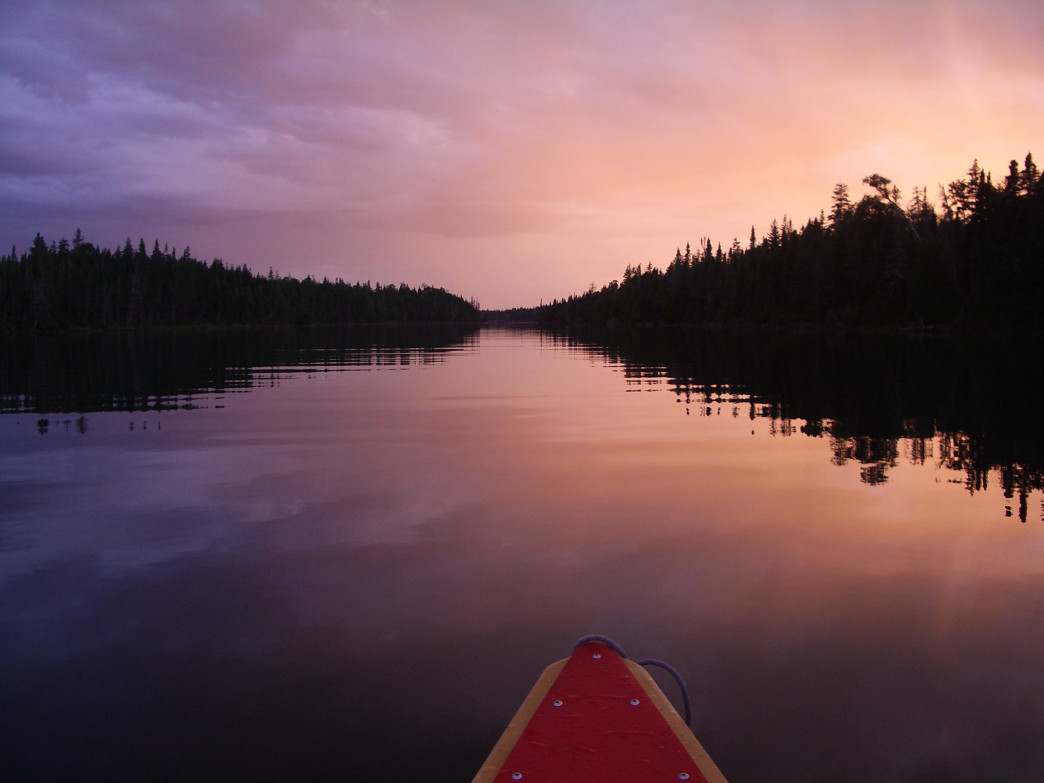 Paddling in Isle Royale National Park.
