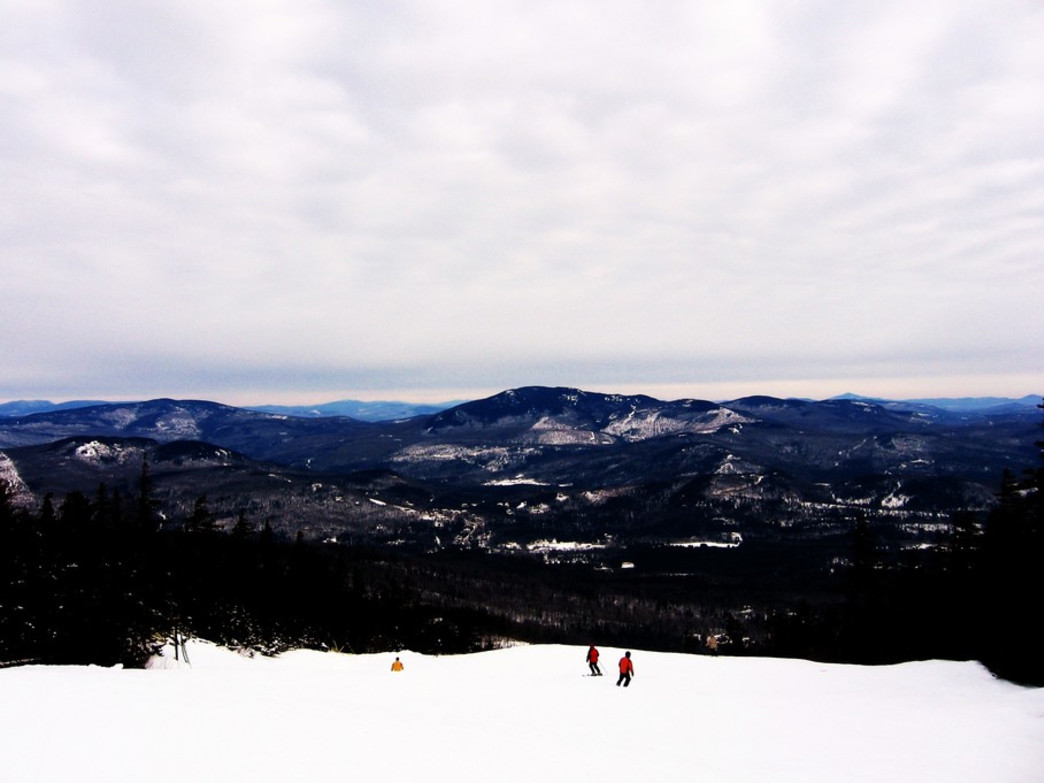 Many of Sunday River's groomers offer downhillers amazing vistas during their ride down the mountain.
