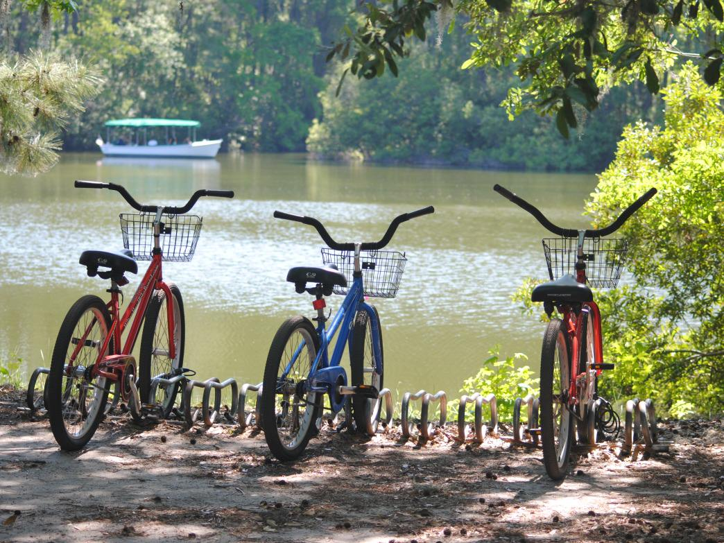Biking is a great way to tour the Hilton Head. Bike paths cover Sea Pines and Pinckney, and connect most of the island.     Rob Glover