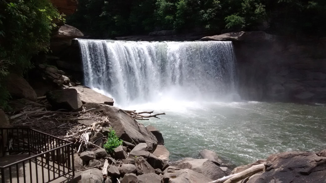 Look for the moonbow at Cumberland Falls.