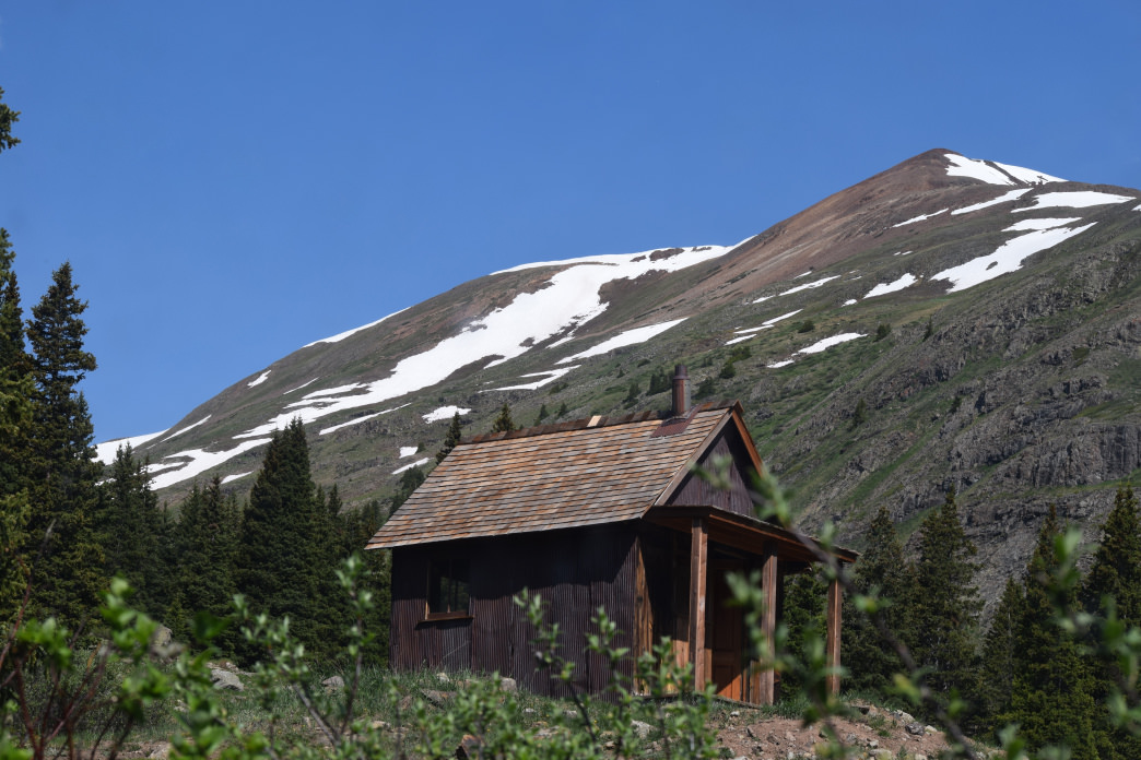 A cabin in Animas Forks on the Alpine Loop. You can't stay there, but it's fun to look inside.     Abbie Mood