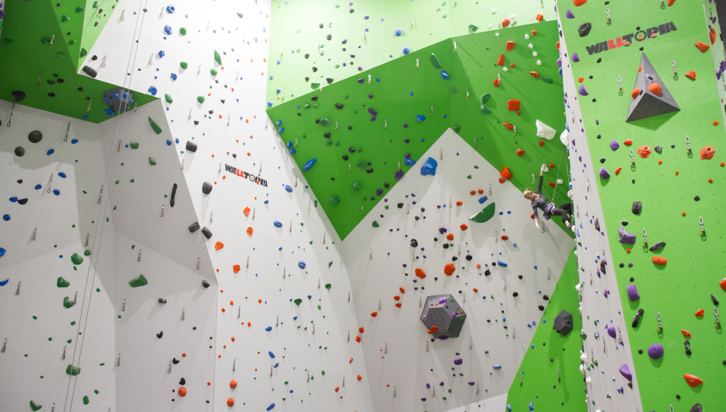 Some of the massive walls at Onsight.