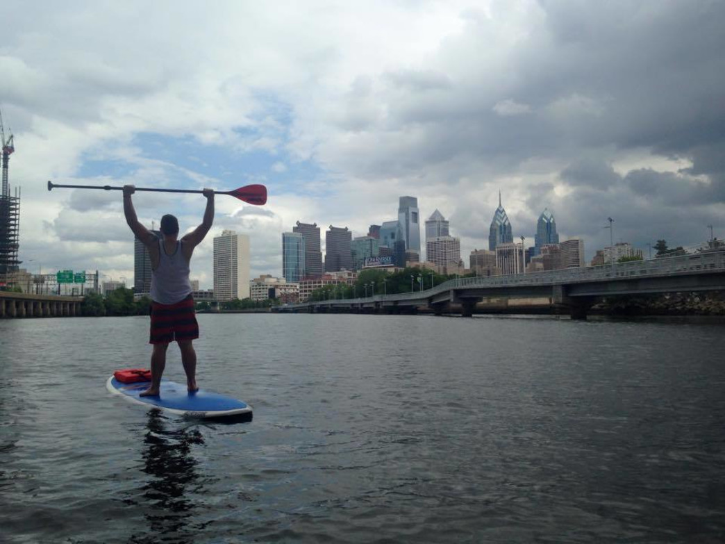 A stand-up paddleboard rented from Standup Philly is a great way to see the city.