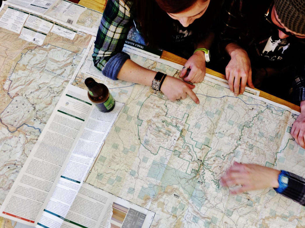 Beers, maps, adventurers—is there anything better?