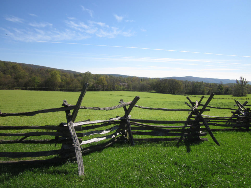 An historic fence in Harper's Ferry State Park, one of the 18 West Virginian sites along the Civil War Discovery Trail.