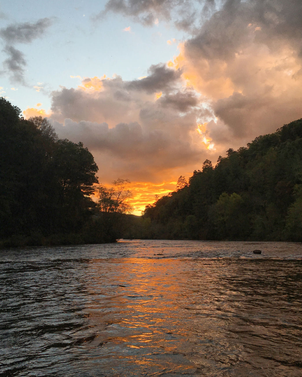 The Tuckasegee River is a beautiful location to sit back, relax, and catch some fish.