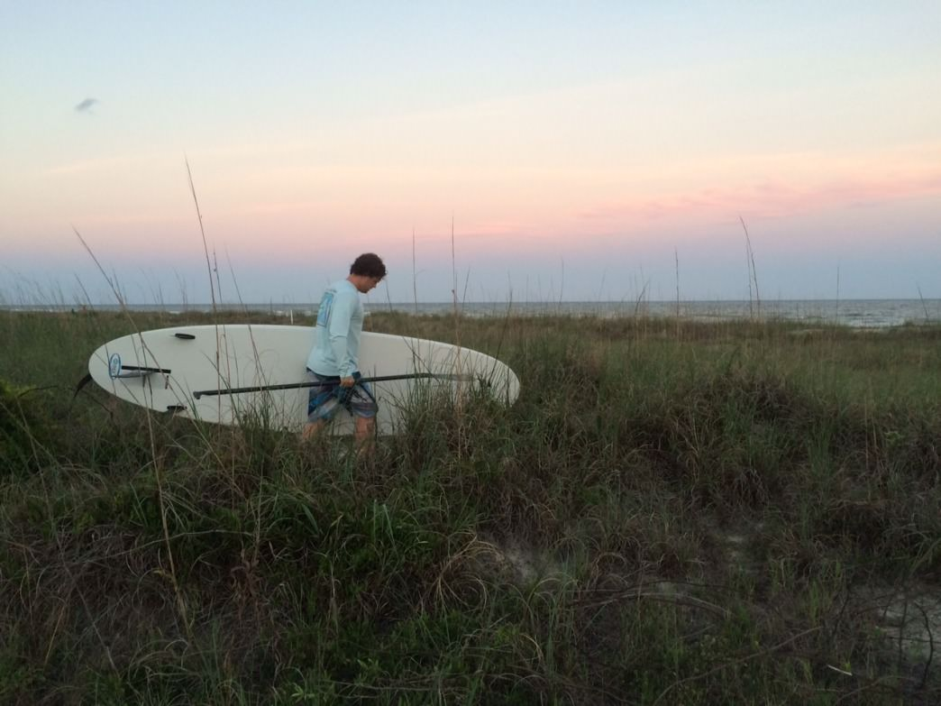 RR Staffer Jake Wheeler sets off for a sunset paddle on Hilton Head