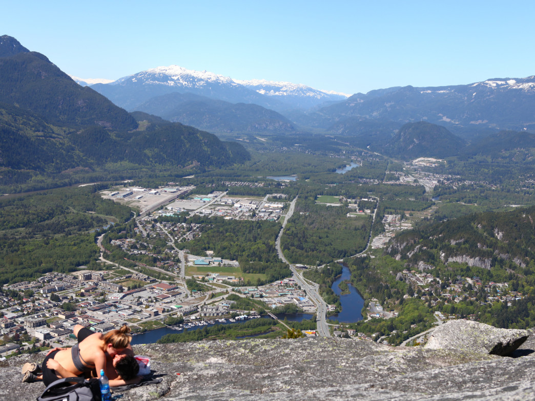 On top of the Stawamus Chief in Squamish.
