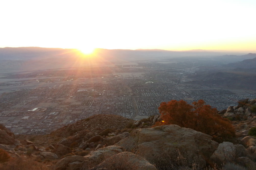 The Skyline Trail, which begins in Palm Springs, features some amazing sunrise views.     Craig Pulsipher
