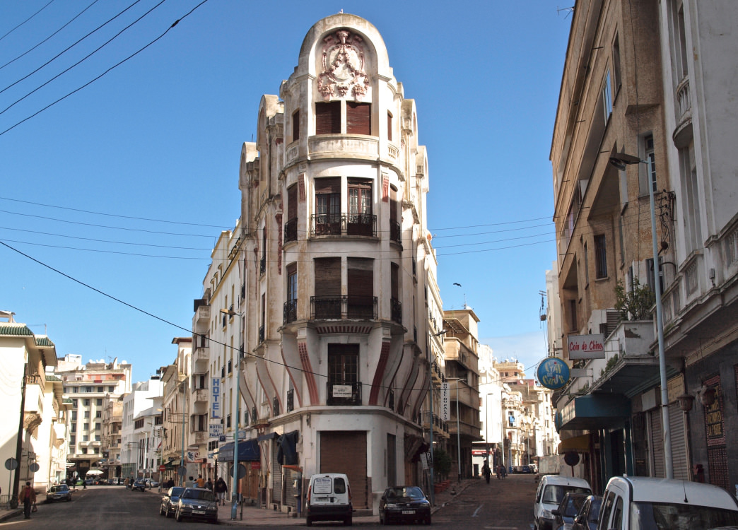 The modern city of Casablanca mixes historical Moroccan design with Parisian Art Deco.