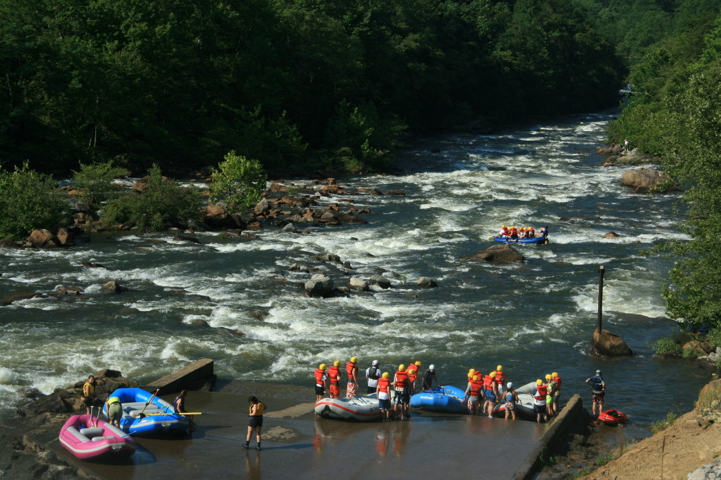 The Ocoee River is popular for whitewater rafting and paddling.