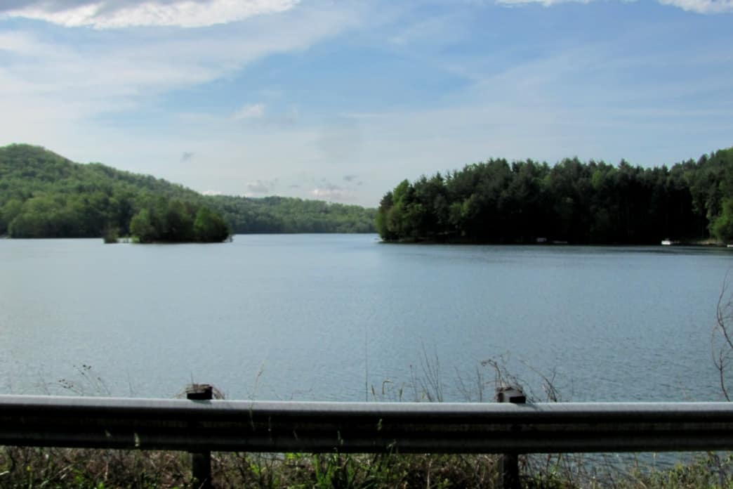 Paddle Lake Glenville to visit three waterfalls and explore remote coves. -ted
