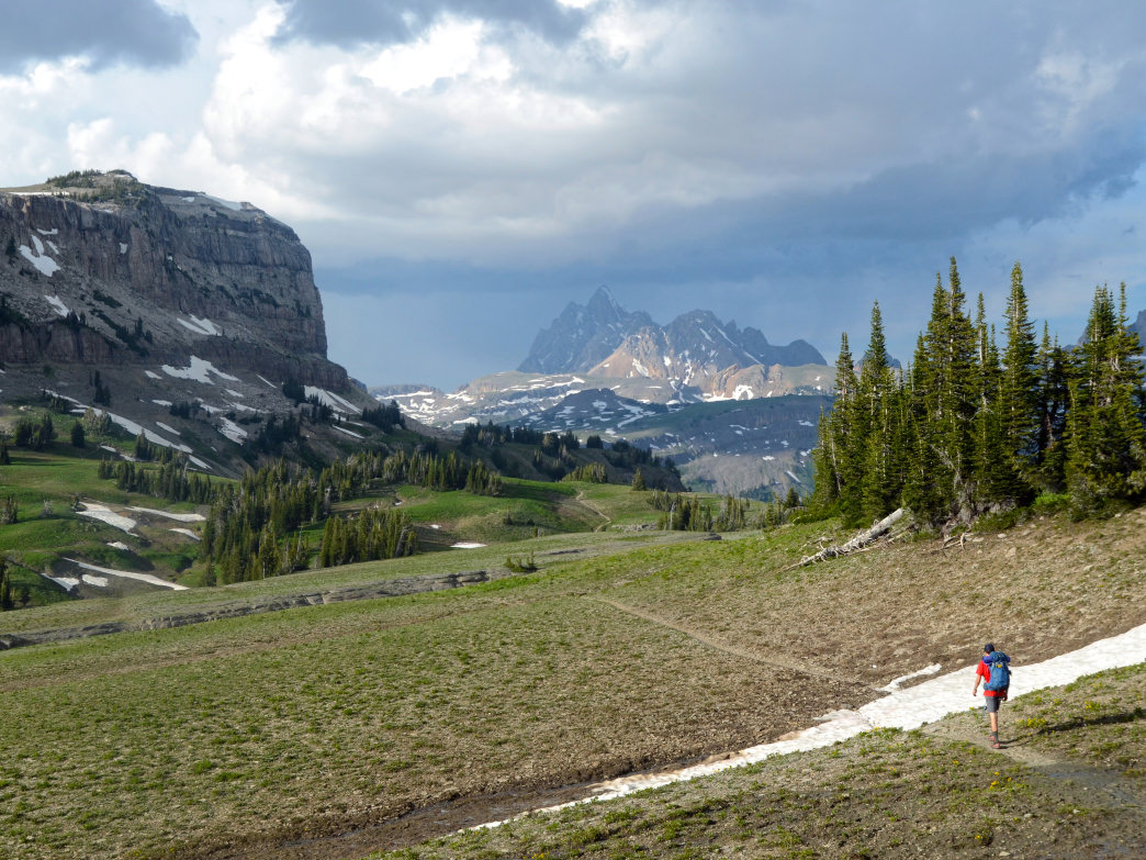 Backpacking the Teton Crest Trail in Caribou-Targhee National Forest's Jedediah Smith Wilderness.