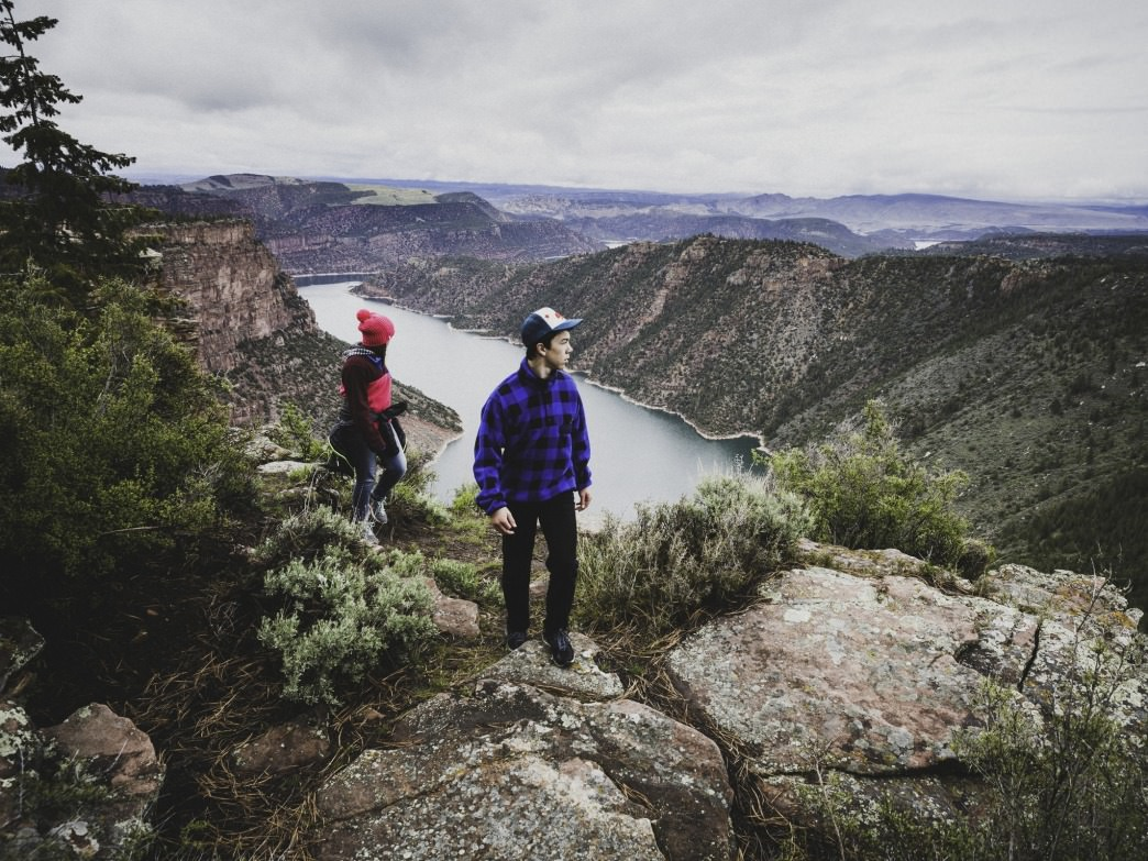 The Canyon Rim Trail at Flaming Gorge is an ideal spot for a family hike.