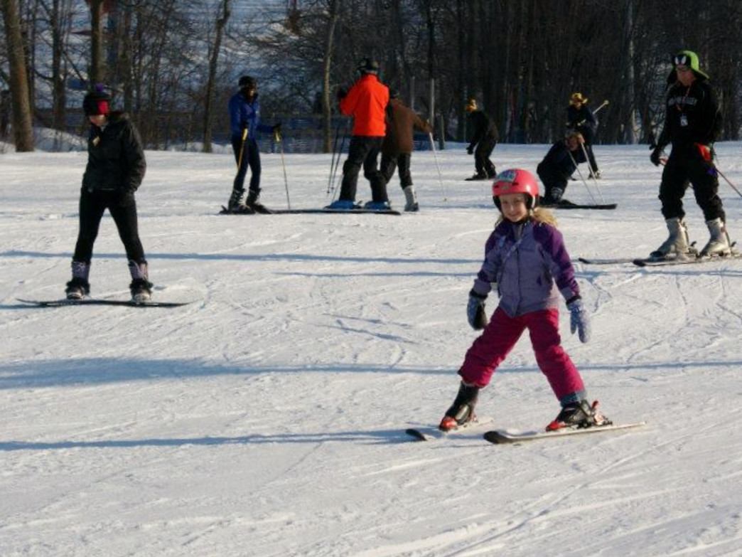 Alpine Valley opened a new learn-to-ski area this year with gentle slopes and magic carpet lifts.