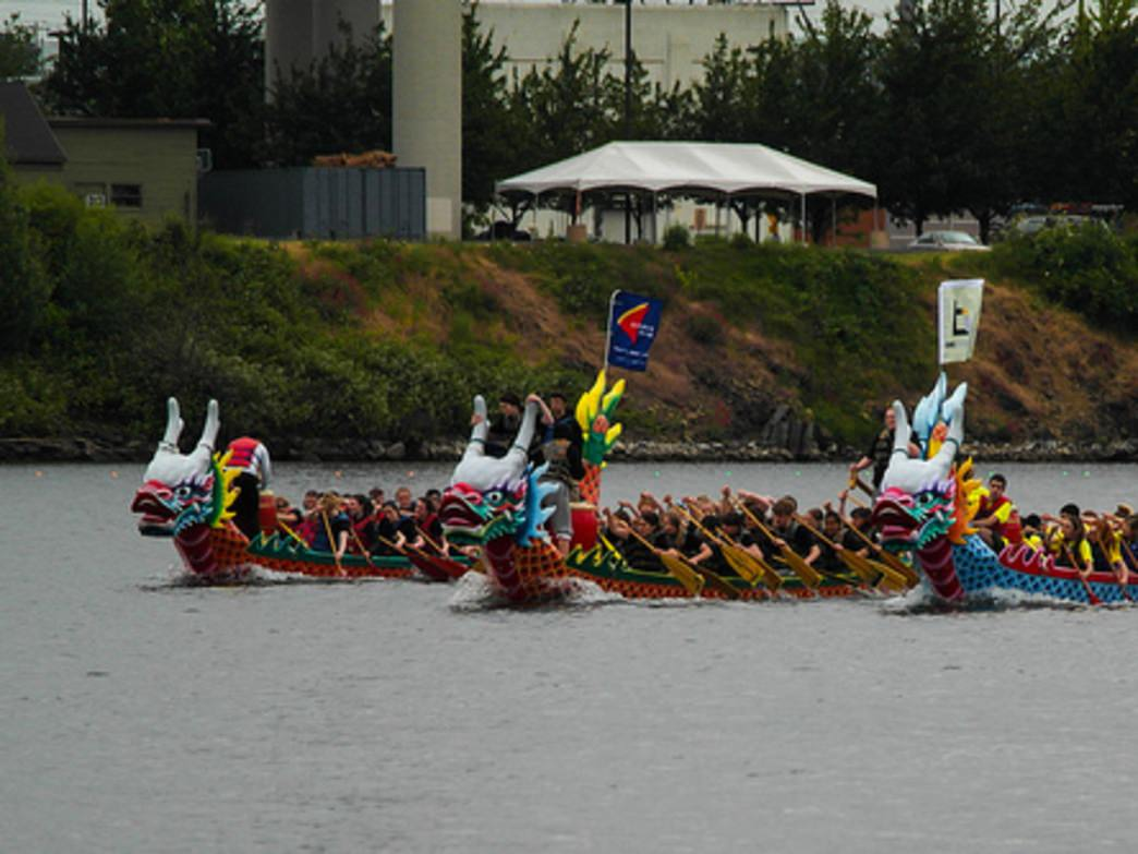 Dragon boat paddling is a popular sport in Portland. Teams compete in races throughout the Pacific Northwest, including in Salem, Ore., Kent, Wash., Victoria, B.C., and Vancouver, Wash.