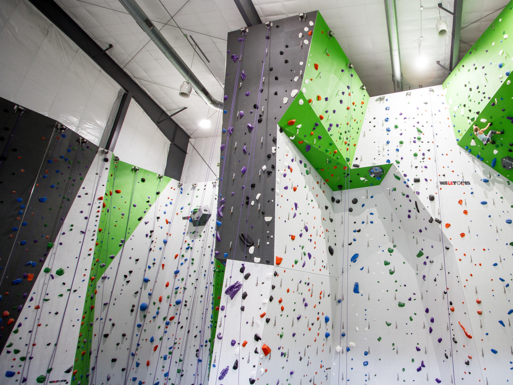 Top rope and lead climbing area