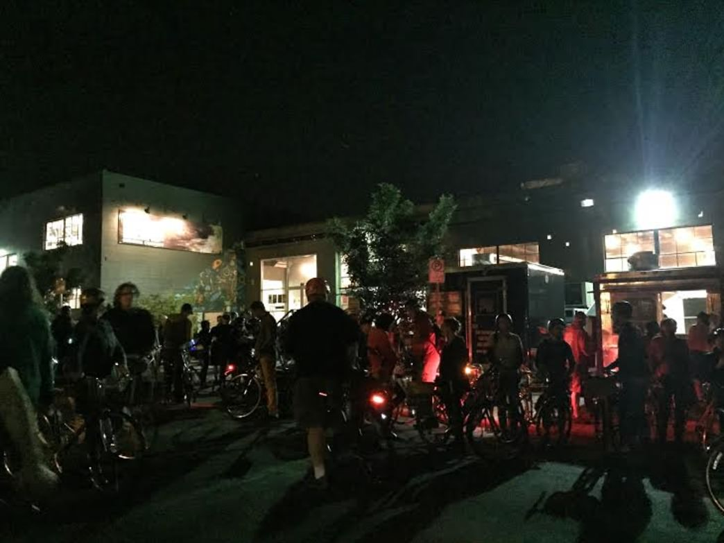 Base Camp Brewing Company was the Midnight Mystery Ride's starting point in June 2015.
