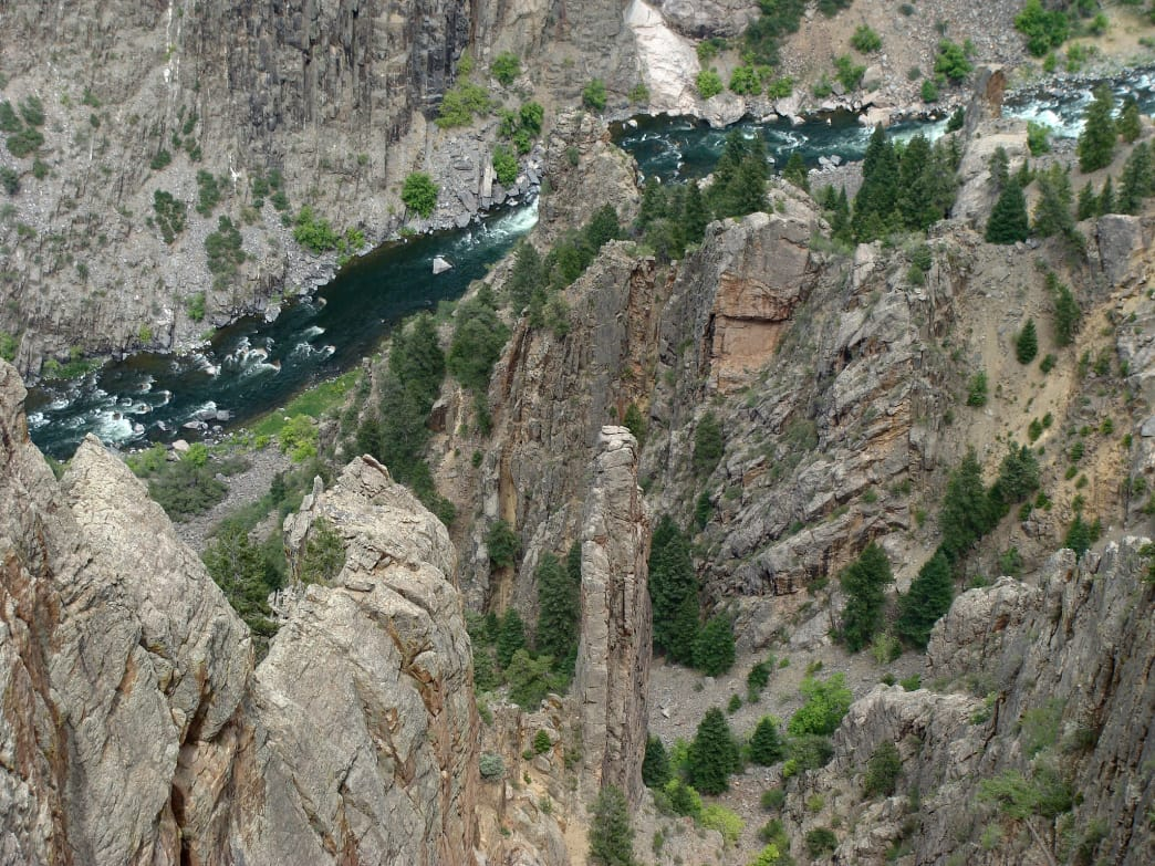 View of the Gunnison River along one of the hiking routes.