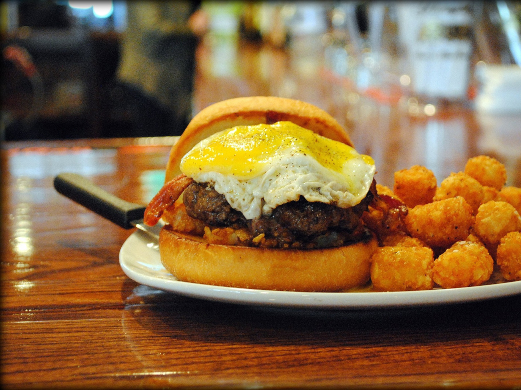 "Spirits Tavern ""Rude Awakening"" burger"