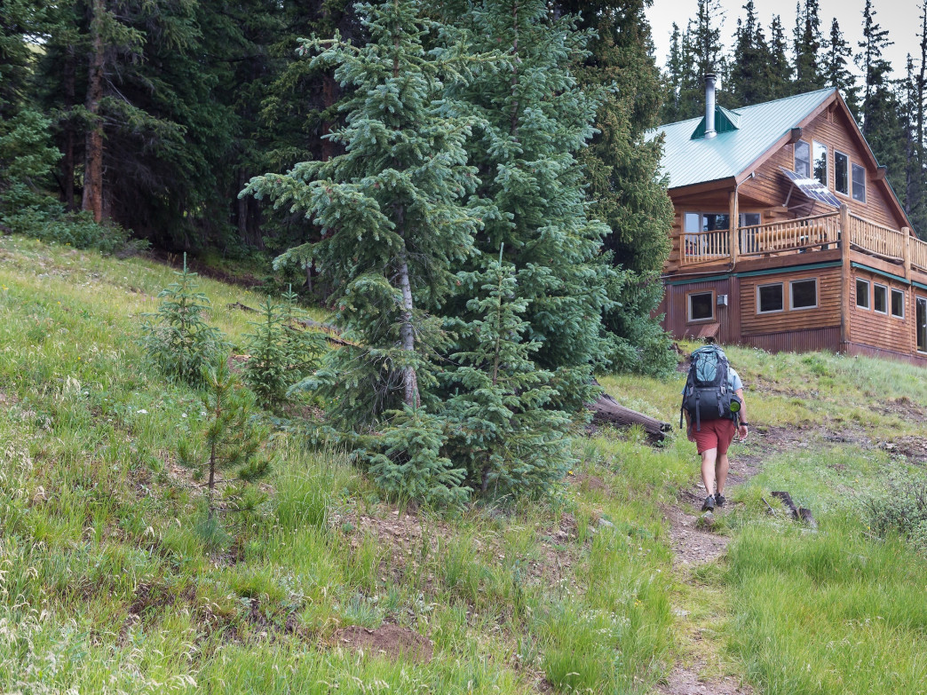 The Sangree M. Froelicher hut outside of Leadville is a 3-mile hike or ski from the trailhead.