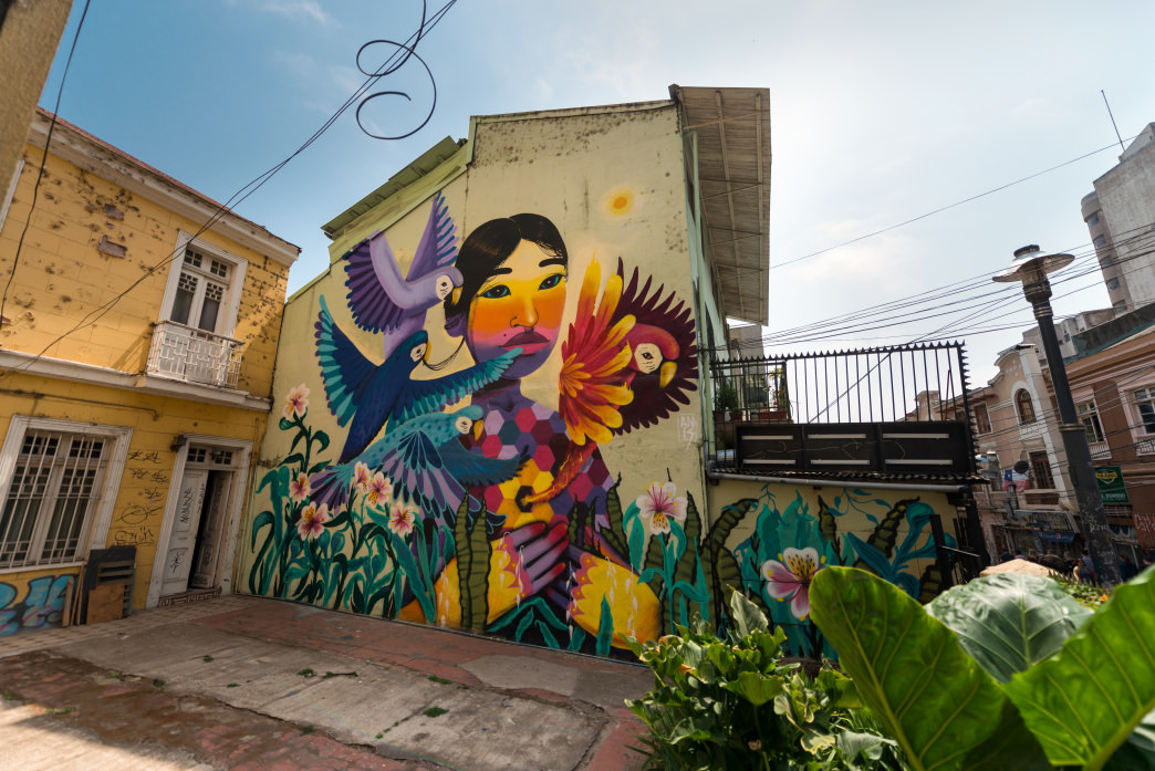 From avant-garde museums to colorful, dream-like murals, the art scene in Chile is thriving.