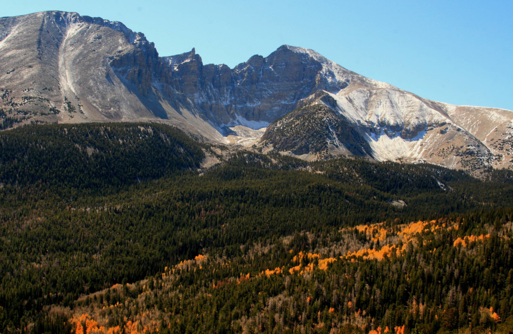 Mountains in eastern Nevada's oft-overlooked Great Basin National Park.