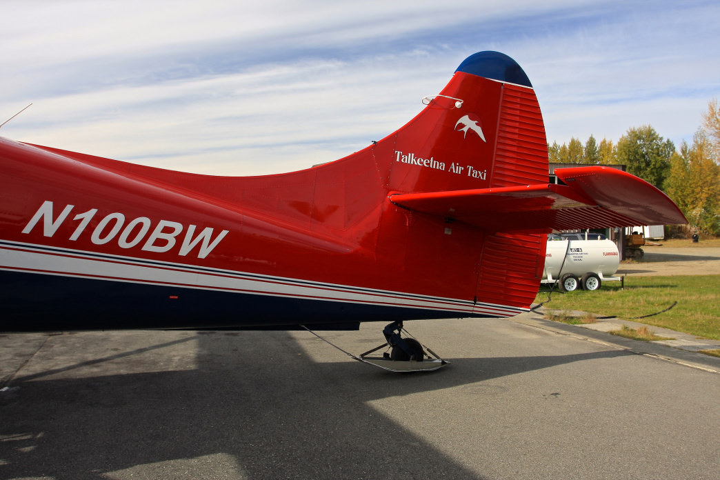 The Talkeetna Air Taxi ready for take-off.