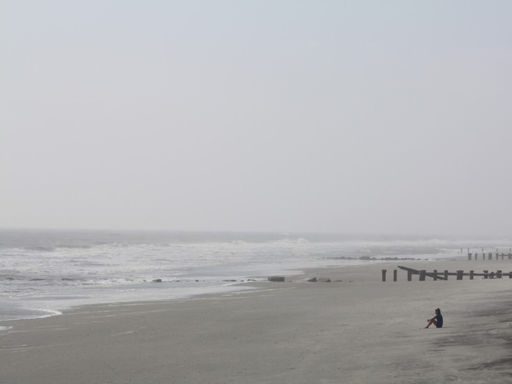 An eerie October day on Folly Beach