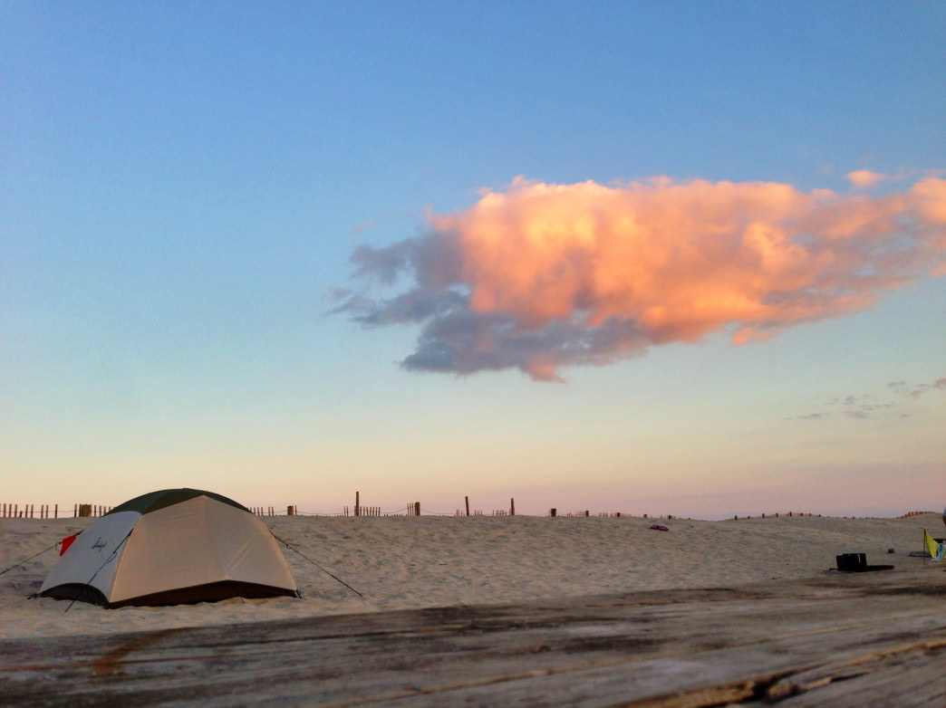 Pitch a tent right on the beach.