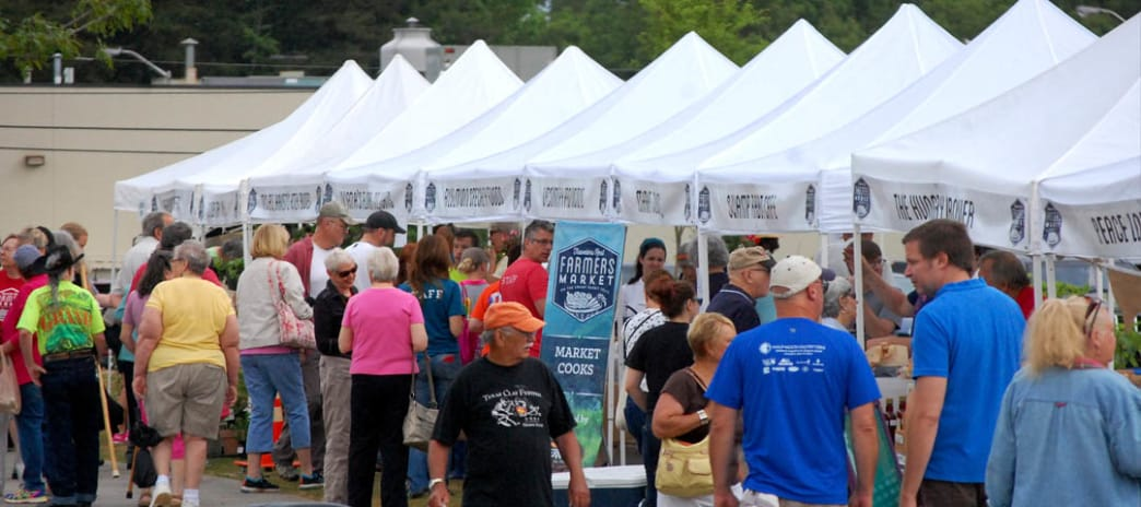 The lively Saturday Farmers Market is the heart and soul of Travelers Rest.