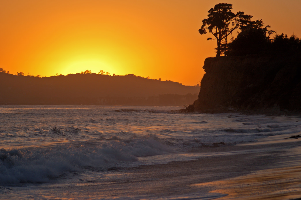 Sunset at Butterfly Beach.