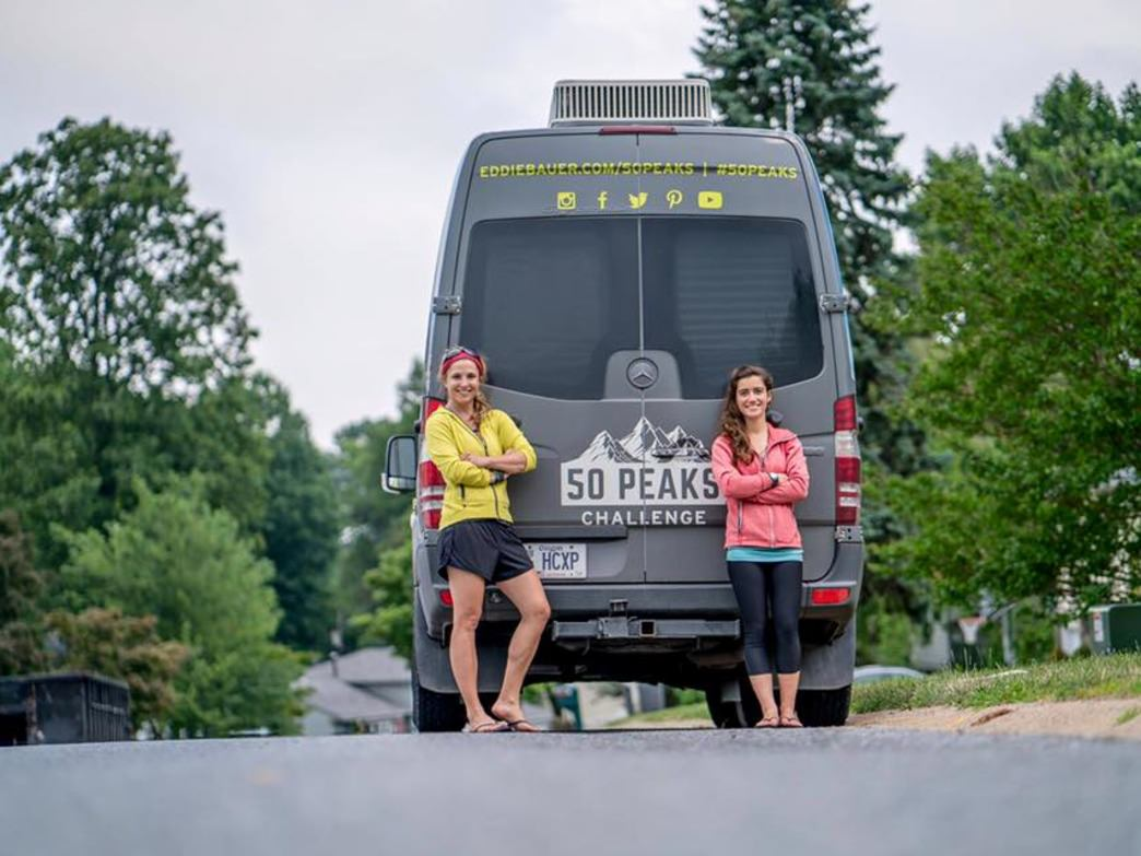 #Vanlife for Maddie Miller and Melissa Arnot.     Maddie Miller