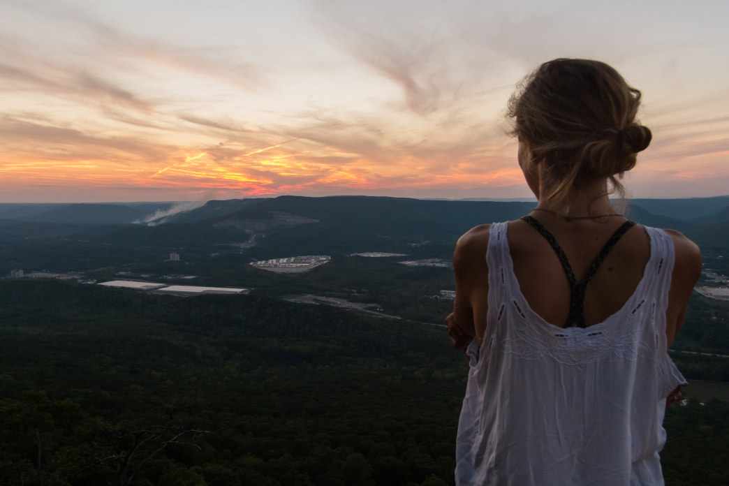 You don't need us to tell you what time of day is best to look down upon Chattanooga from Sunset Rock. Perry Smyre