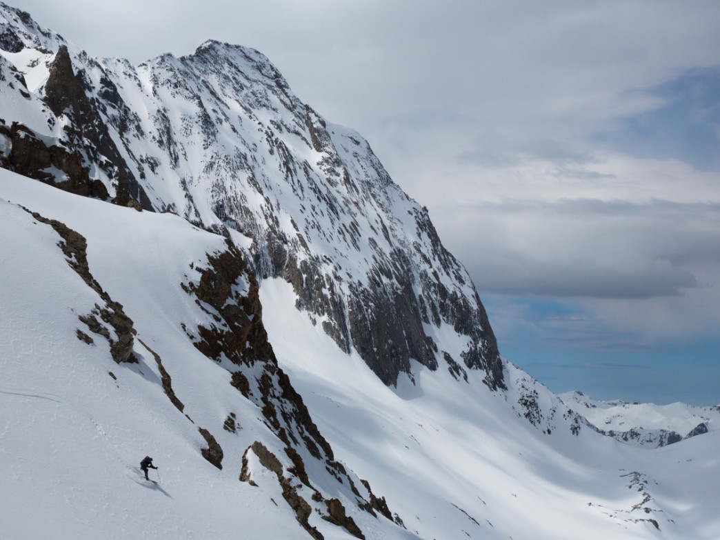 Capitol Peak is one of the more challenging 14ers to ski in Colorado.