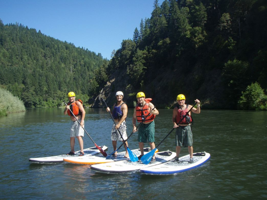 Put the kayak aside and hop on a SUP to experience lakes and rivers.
