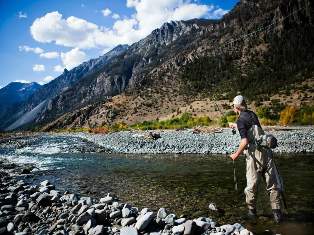 It doesn't get better than fly fishing in Wyoming.