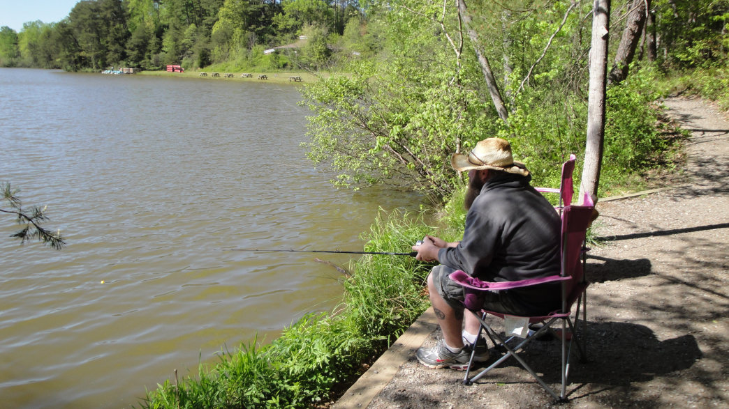Anglers can cast a line just about anywhere along the shore