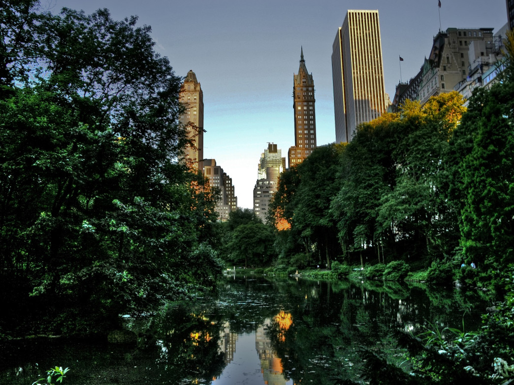 The Hallett Nature Sanctuary, in New York's Central Park, offers a glimpse of the City's natural landscape