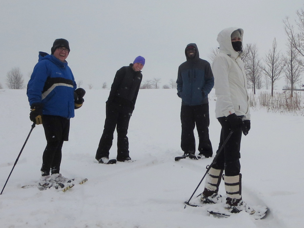 Snowshoeing on Northerly Island