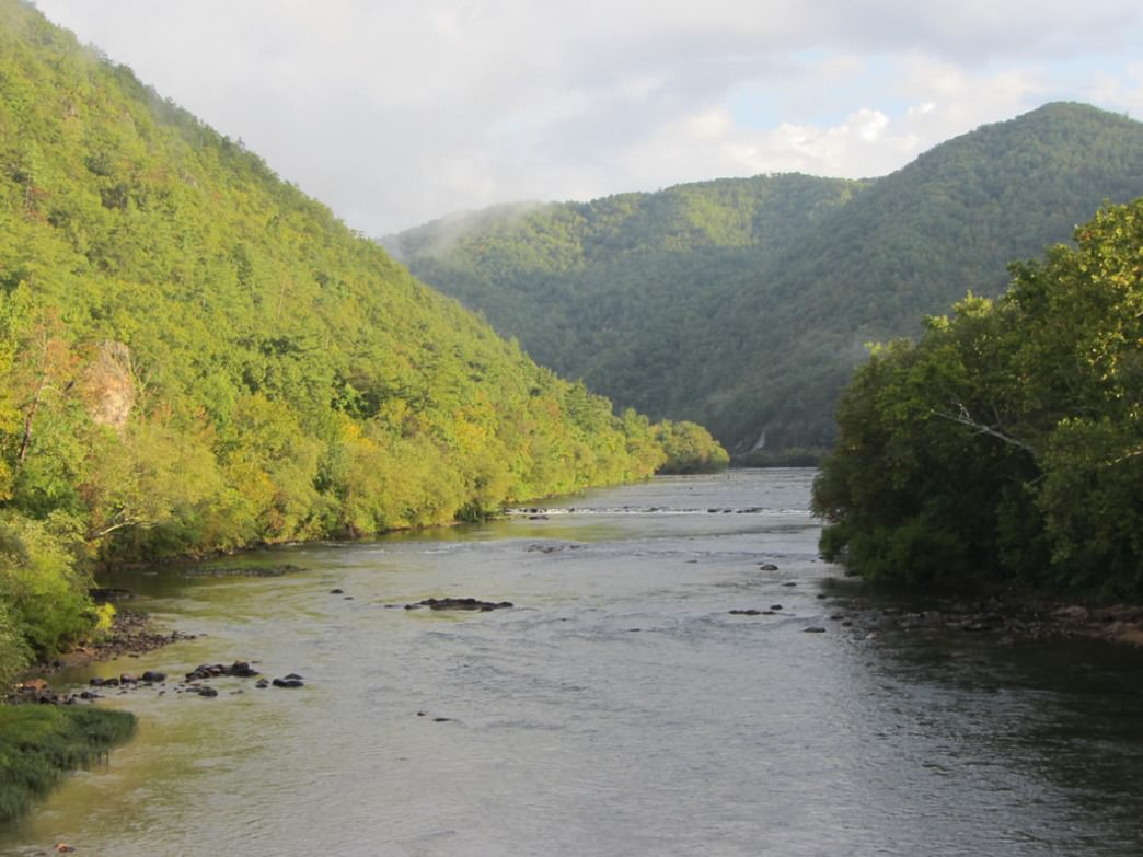 The French Broad River next to Hot Springs