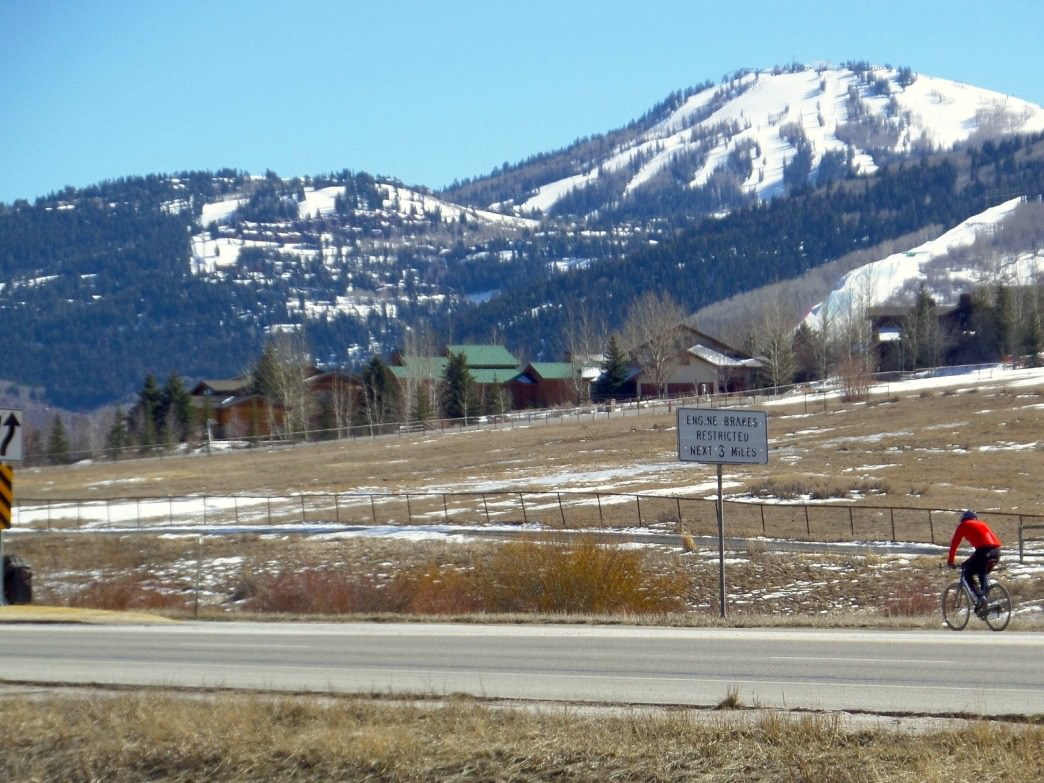 Heading up HWY 224 with Deer Valley in the background.