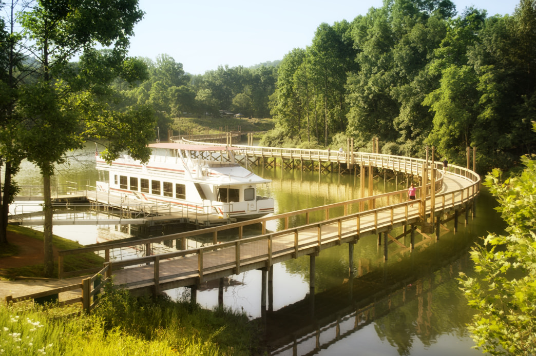 Walk along the pier at Stonewall Resort, or hit one of the five trails.     Chris Audia