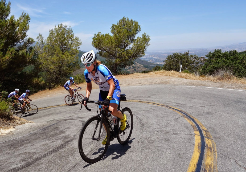 Road cyclists can challenge themselves with serious climbs up into the mountains.
