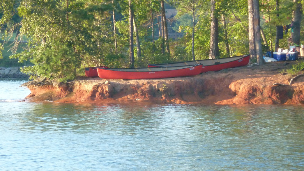 Paddle-in campsites at Lake Keowee-Toxaway State Park offer amazing sunset views. Rob Glover
