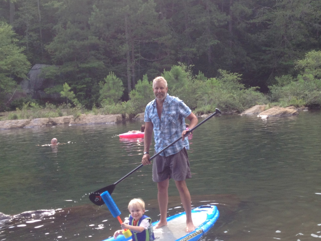 SUP is fun for kids from one to 92 (not that this guy looks 92).