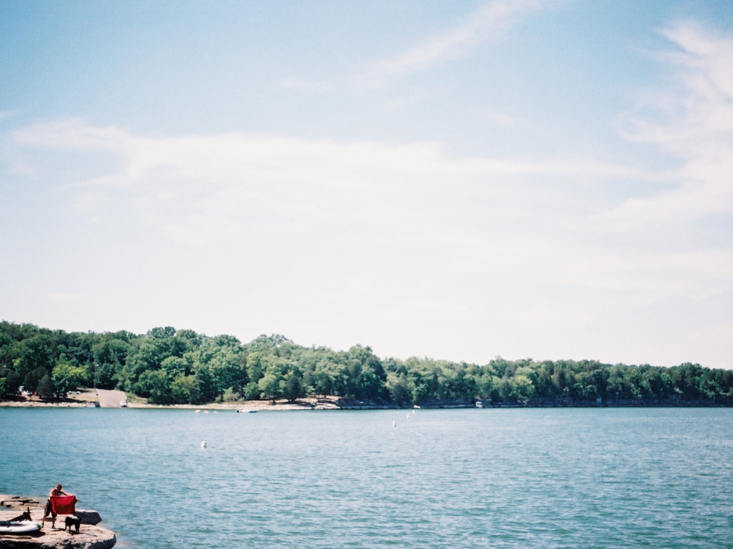 Percy Priest Lake on a summer day.