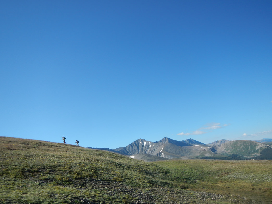 For some, this is a typical day in the office in Colorado. Hiking the Colorado Trail near Frisco.